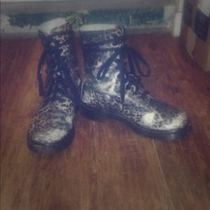 Dr Martens animal print boots